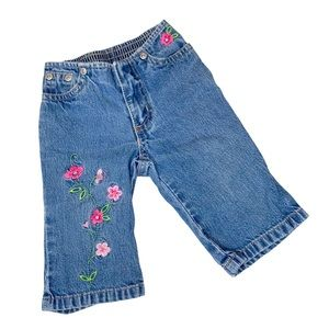 Old Navy Vintage Floral Embroidery Jeans 6-12 Mo